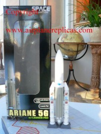 Ariane 5G rocket with launch pad