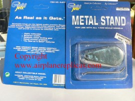 Chrome Metal stand for 1/400 scale planes