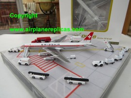 Swissair DC-8-30 & comes with 15 pieces of GSE